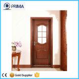 Porte en bois de Fashional pour la chambre à coucher d'hôtel, porte blanche en bois solide de peinture
