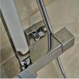 """手のシャワー8 """"雨が付いているサーモスタットの浴槽のシャワーのミキサーシャワー・ヘッド"""
