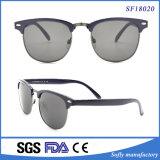 Ультрамодные золотистые солнечные очки оптовой продажи носа штуцеров металла края