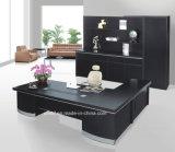 黒いカラー大きい正方形の足の机の執行部表(HX-5DE367)
