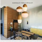 Lamp van de Tegenhanger van de decoratie de Eenvoudige met Houten Kleur voor Koffiebar