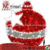 Luz de la Navidad decorativa de la cuerda del adorno de Bell del regalo del oropel IP65 de los aleros del LED para la decoración de Navidad