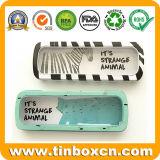 Коробка канцелярских принадлежностей олова окна PVC металла прозрачная в случаи карандаша