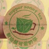 Impression adhésive de collant d'étiquette personnalisée par qualité de papier enduit de vinyle