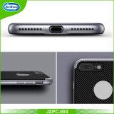 Alta qualidade 2017 que vende a fibra 2 do carbono em 1 caixa dura do telefone de TPU para o iPhone 7 positivo
