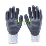 Перчатки вкладыша Hppe покрыли перчатку работы Esen отрезанную PU упорную