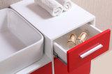 Gabinetes de banheiro vermelhos do PVC de N&L com espelhos