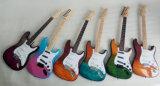 Guitare électrique bicolore de type de rue avec la caisse dure de guitare