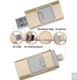 3 в 1 OTG флэш-накопитель USB 32 ГБ, 32 ГБ памяти, OTG U диск для iPhone и Android и настольный компьютер