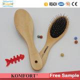 Démêlant en bois Magic brosse à cheveux personnalisé avec les axes en acier de gros