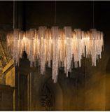 Borla de lujo ligera pendiente de cadena de aluminio de la borla que cuelga la iluminación de /Drop/Chandelier
