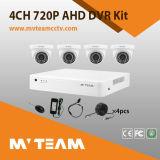 Kits del sistema 4CH 720p Ahd DVR de la cámara del CCTV del kit de Shenzhen DVR con las cámaras de la bóveda 4PCS