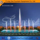 Fontana esterna di musica del raggruppamento con le lampade cambianti di colore