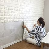 Decoración de la habitación no tóxica en relieve de fondo Brick Stone PE Brick Foam