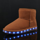 2017 New Fashion USB recarregável High Top LED Shoes para homens Unisex LED Luminous Shoe Party Night Club Glowing Shoes