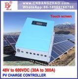 大きいLCD表示が付いている48VDC-80A PVシステム電池の料金のコントローラ