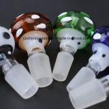 Tazón de fuente de cristal que fuma del color multi de cristal del tubo del diseño único de Annimal que fuma