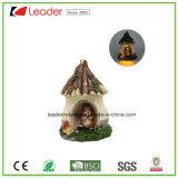 De decoratieve Miniatuur van de Tuin van het Standbeeld van de Paddestoel van de Hars met ZonneLicht voor de Decoratie van het Huis en het Ornament van de Tuin
