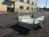 8X5 de gegalvaniseerde Aanhangwagen van de Doos met Kooi