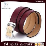 Riemen-Riemen der Fabrik kundenspezifischen stilvollen echtes Leder-Metallfaltenbildung-Männer