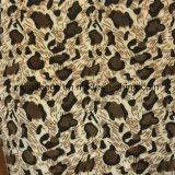アニマル・スキンプリントが付いている染められた両面のフランネルの羊毛