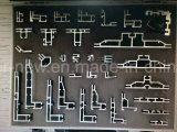 Drapeau en aluminium d'étalage de bâti de tissu facile de modification (SS-FB-47)