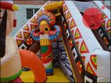 아이 (T3 801)를 위한 쾌활한 성곽을 뛰어오르는 2017 팽창식 인도 재미