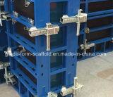 Système de coffrage de mur en béton en acier et de fléau de poids léger