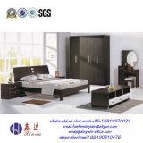 黒いカラーダブル・ベッドの現代メラミン寝室の家具(F15#)