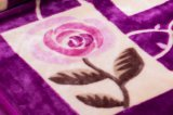 Raschelの総括的なアクリルの羊毛毛布-花