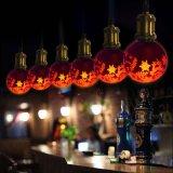Bulbo hecho a mano E26 de la decoración LED de la Navidad del día de fiesta del partido de la pintura G80
