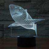 Lâmpada LED Illusion LED Kids Night Light Lâmpada LED Shark
