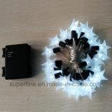 Riga trasparente flessibile decorativa indicatore luminoso dell'albero di Natale della stringa del LED con la decorazione della stella