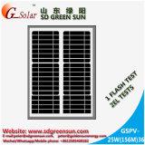 mono painel 30W solar para a luz do diodo emissor de luz, luz de rua solar