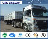 Cimc中国の製造業者の3車軸側面のひっくり返るダンプカーの半トレーラトラックシャーシ