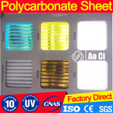 Rooflightsの対壁シートのための8mmの湖青い高品質Polycarbnate