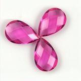 De synthetische Rozerode Steen van het Glas van de Besnoeiing van het Facet van de Kleur op Verkoop