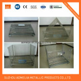 Caixas do metal/gaiola de aço do armazenamento rolamento do fio