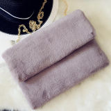 Hot Fashion Cute Faux Rabbit Fur Handbag Shoulder Messenger Bag Mulheres Embreagens Sy8068