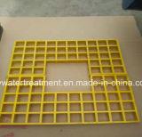 Fibra de vidrio Grating/moldeada de la resistencia a la corrosión FRP que ralla la reja de Pultruded