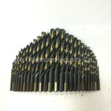 negro completamente molido de 29PCS HSS y conjunto de oro del dígito binario de taladro de torcedura del final