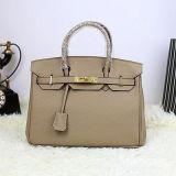 Sacchetto di Tote su ordinazione del cuoio genuino delle borse di marca della borsa delle signore Emg4775