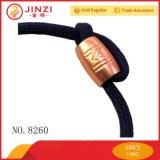 Accesorio de joyas de Metal Logo personalizado cordones cordones de metal de oro rosa brillante