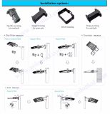 der 400W 500W MetallHalide Halogen-Lampen-Abwechslungs-120lm/W Schuh-Kasten-Licht Tageslicht-Fotozellen-des Fühler-100W LED
