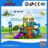 Karikatur-Serien-Kind-im Freienspielplatz-lange Plastikplättchen