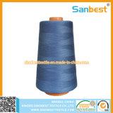 De kleurrijke Uitstekende kwaliteit Gesponnen Naaiende Draad van de Polyester