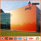 Ideabond PE PVDF Revêtement Spectra Finish Aluminium Composite Facade Panel
