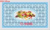 mantel transparente impreso PVC popular caliente de los 90*145cm del diseño independiente (a todo color)