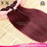 다른 유형 99j Burgundy 중국 페루 인도 Malaysian 브라질 크로셰 뜨개질 Virgin 머리