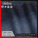 Tessuto sottile 100% dei jeans del denim del cotone blu scuro del tessuto 4oz